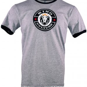 King Culture Gray Ringer Tee